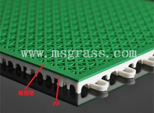 米字氟橡塑地板-白底绿面