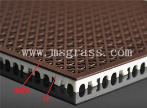 米字氟橡塑地板-白底棕面