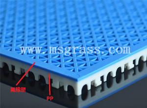米字氟橡塑地板-白底蓝面